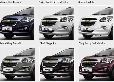 Warna Chevrolet Spin